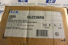 New Eaton Dg223nrb 100 Amp 240 Volt 2 Pole Fusible 3r Outdoor Disconnect
