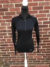 Womens Sweater Patagonia XS Black Base Layer Long sleeve 1/2 Zip