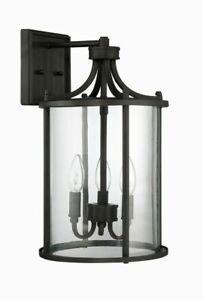 Craftmade Lighting Z2804-ABZ Carlton Outdoor 1-Light Wall Mount Sconce Bronze