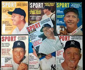 Lot of (7) 1961-67 Mickey Mantle Sport Magazines Vintage 1960s PR-EX