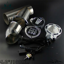 "4"" Exhaust Catback Downpipe Cutout E-Cut Valve Electric +Toggle Switch Control"
