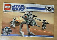 Lego 8014 INSTRUCTION MAUAL ONLY clone Walker Star Wars
