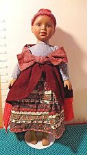 """Doll, African American, Ethnic Dress, JCPenney Co., 1992, w/Stand,16"""""""
