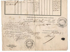 1835 printed stamped and manuscript justice Witnesses receipt signatures