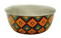 Decorative Stainless Steel Metal Deep Mixing Bowls Hand Painted Kitchenware