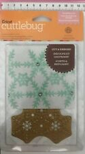 Cuttlebug Anna Griffin 1pc Cut & Emboss Die 'Snowflake Lace' Christmas Themed