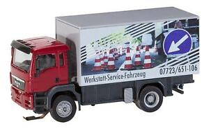 FALLER Car System H0 161554 Truck Man Tgs Workshop Service Cart ( Herpa /