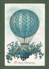 beautiful old embossed Postcard shows airballoon airship #045
