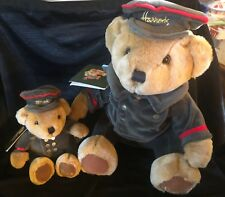 "New! Harrods Knightsbridge London Plush Teddy Bear 10 inch & 5"" Sitting Doorman"