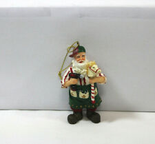 "RARE RETIRED 1980'S CRAFTSMAN 3 1/2"" SANTA WITH A POWER DRILL & HOBBY HORSE"