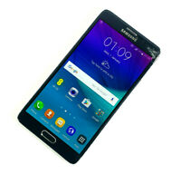 Samsung Galaxy Note 4 SM-N910F - 32GB - Black (EE) SMASHED SCREEN WORKS WELL 439