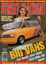 Street Machine Jan 1996,Chevy V8 Corolla, 41 Willys,100E, Astro Vans, '34 Ford