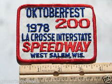 LaCrosse Interstate Speedway  RaceTrack Event  1978 Octoberfest 200 Patch #300 *