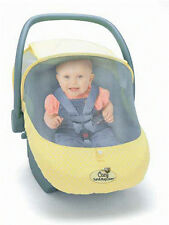 Infant Car Seat Carrier Cover or Sun & Bug Cover for Baby Yellow