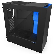 Steel Chassis ATX Mid Tower Case Computer Gaming PC Gamer futuristic steel l33t