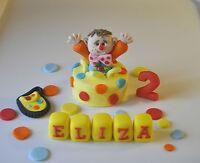 edible mr tumble cake topper name block boy girl decoration birthday teddy