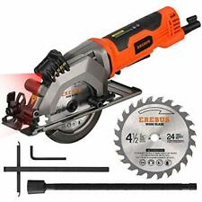 Circular Saw with Laser Guide Compact Mini Dust Extraction System 3500Rpm 4 Amp-