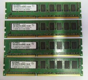 Elpida EBJ10EE8BAFA-AE-E 4GB (4x1GB) PC3-8500 DDR3-1066MHz ECC CL7 240P Memory