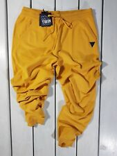 NEW MY TWIN TWINSET MEN'S PANTS SIZE XXL YELLOW JOGGER TROUSERS WOOL