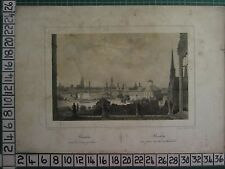 c1860 ANTIQUE PRINT ~ BRESLAU CATHEDRAL DOME WROCLAW