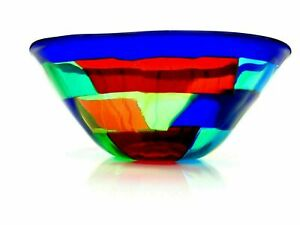 Signed By The Artist Ballarin Murano Art Glass Pezzato Studio Bowl & Certificate
