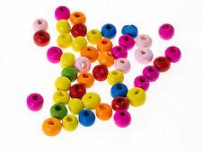 50 perles en bois 6mm couleur Mixte 6 mm creation colier, bijoux, attache tetine