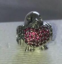 369947e42 Genuine Silver Pandora Red Robin Charm 791731CZR S925 ALE *FREE GIFT POUCH*