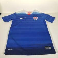 Nike Boys Kids Shirt Size Small Youth Blue Dri-Fit USA Soccer Football 2015