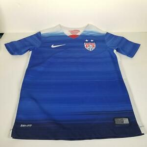 Nike Boys Kids Shirt Size Small Youth Blue Dri-Fit USA Soccer Football 2015
