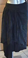 jupe portefeuille noire satinée asymétrique HIGH USE T 38 i42 NEUVE ÉTIQUETTE