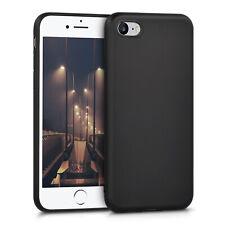 """Funda Silicona Tpu Gel Goma para iPhone 7 4.7"""" negra carcasa caratula forro lisa"""