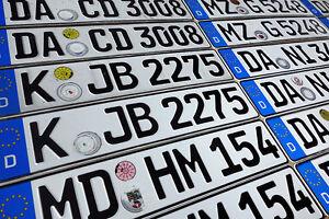 ORIGINAL German License Plate Mitsubishi Audi BMW Mercedes-Benz Porsche VW Volvo