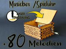 Spieluhr mit Individueller Gravur Musicbox with Custom engraving Geschenk Gift