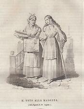 Il voto alla Madonna incisione in rame 1839