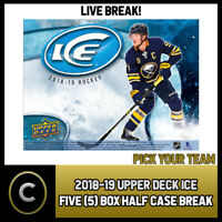 2018-19 UPPER DECK ICE 5 BOX (HALF CASE) BREAK #H294 - PICK YOUR TEAM