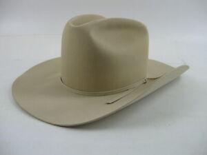 "Resistol Luskey's 5X Beaver Felt 7 1/2 Rancher Cowboy Hat Buckskin Color 4"" Brim"