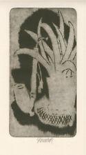 Original etching by KOMAREK VLADIMIR (1928 -2002) Czech