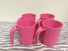 Tupperware Coffee Cups Set of 4 Pink 12oz New