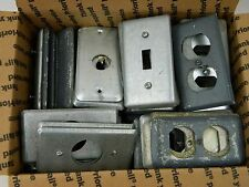 150 Metal Handy Box Plate Cover Lot 1 Gang Single Toggle Switch Duplex Outlet