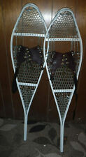New listing Handmade Pair Of Winter Snowshoes 46 X 12 Long Metal Wire & Leather Nice L@K