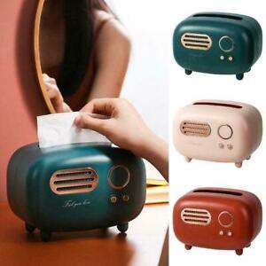 Tissue Box Retro Radio Model Desktop Paper Holder Vintage S Dispenser U A1I1