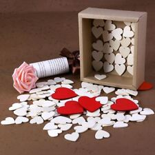 130Pcs/Set Wood Discs Wooden Small Heart Shaped Cutout for Wedding Valentine AU