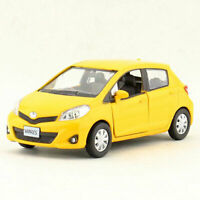 Toyota Yaris 1:36 Scale Model Car Diecast Gift Toy Vehicle Pull Back Kids Yellow