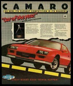 1982 Chevrolet Camaro red car photo vintage ad