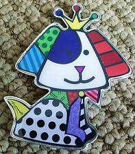 ROMERO BRITTO 'Royalty Dog' Alloy Refrigerator / Fridge Magnet **NEW**