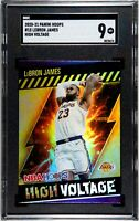 2020-21 Panini Hoops #15 Lebron James High Voltage SGC 9 Mint Los Angeles Lakers