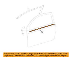 Scion tC 05-10 Door-Window Sweep Belt Molding Felt Weatherstrip Right 7571121030
