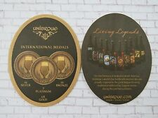 Beer Coaster ~ UNIBROUE Brewery ~ Chambly, Quebec, CANADA ~ INTERNATIONAL Medals