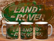 VINTAGE LAND ROVER DISTRESSED MUD CAN MUG CUP  RETRO DUB COOL MECHANIC
