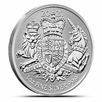 2021 Great Britain The Royal Arms - 1 oz. 999 Pure Silver Coin - BU - IN STOCK!!
